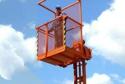 Working platform with lift for a mounted loader russian